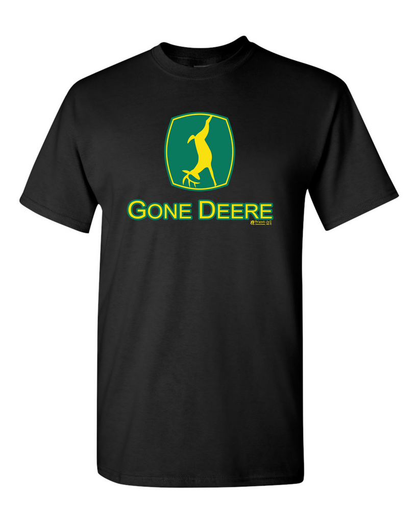 Gone Deer Black Tshirt Large