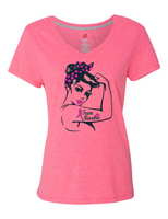 Team Barbie 42v0 Ladies v Neck Tee