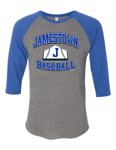 Jamestown Baseball 2089e1 3/4 Sleeve Tee