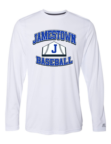 Jamestown Baseball 62211 Russel Long Sleeve Performance Tee