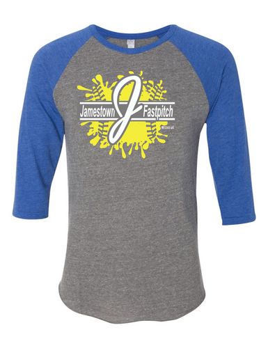 Jamestown Fastpitch 2089e1 3/4 Sleeve Tee Adult and Youth