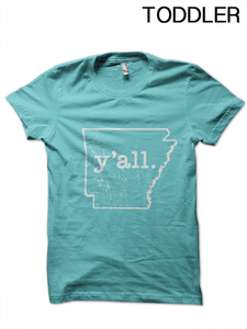 Toddler Arkansas y'all T-Shirt