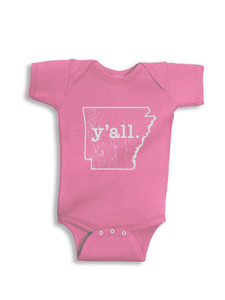 Youth Arkansas y'all Onesie