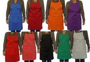 LUPO Plain Unisex Cooking Chefs Catering Work Apron Tabard with Pocket