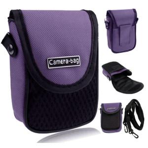 LUPO Universal Compact Digital Camera Case Bag (Internal Size: 100 x 65 x 30mm) - PURPLE