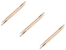 Zildjian 7A Wood Tip Drumsticks 3 Pair Special
