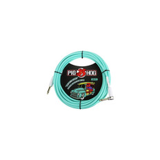 "Pig Hog ""Seafoam Green"" Instrument Cable, 20ft Right Angle"