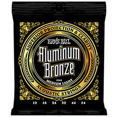 Ernie Ball 2566 Aluminum Bronze Acoustic Strings Medium Light 12-54
