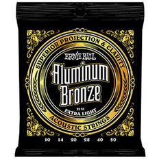 Ernie Ball 2570 Aluminum Bronze Acoustic Strings Extra Light 10-50