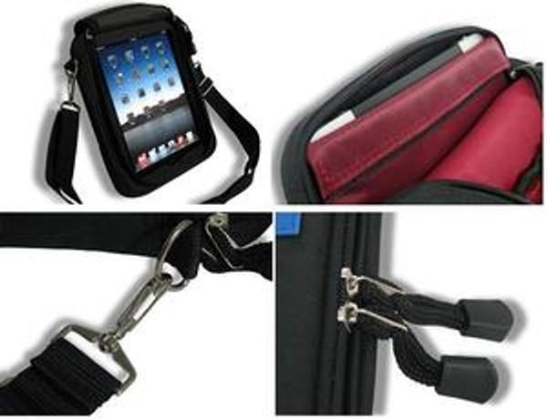 Padded Ballistic Nylon Hybrid Travel Case w/ Strap for iPad 1, iPad 2, iPad 3, iPad 4