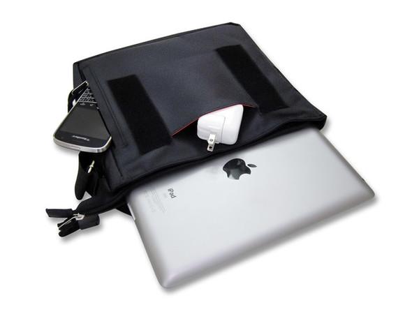 Padded Ballistic Nylon Hybrid Travel Case / Mini-Messenger Bag for iPad, Pad 2, iPad 3, iPad 4