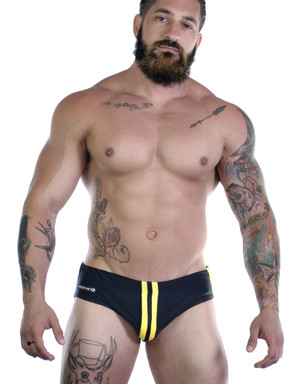 WildmanT Sportivo Bikini Black & Yellow Swim