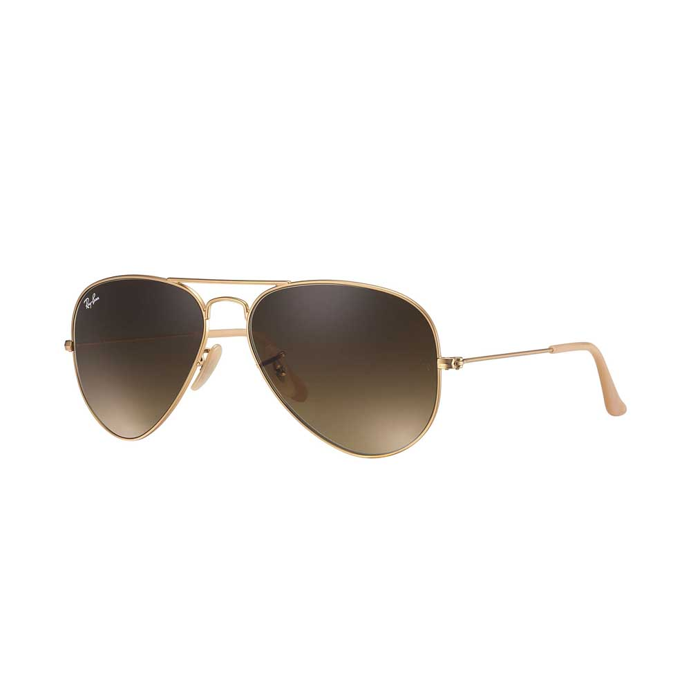 Gold/Brown Aviator Gradient Sunglasses