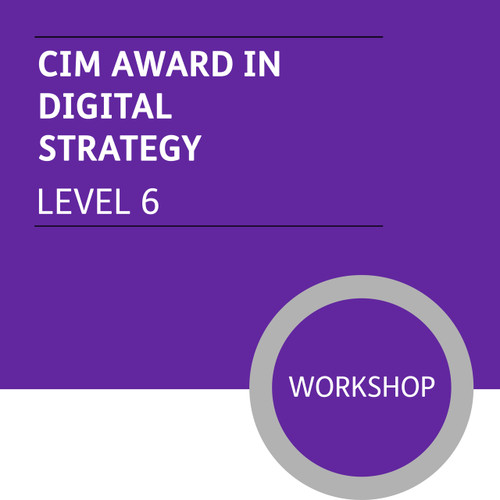 CIM Diploma in Professional Marketing (Level 6) - Digital Strategy Module - Premium/Workshops