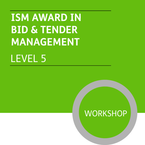 ISMM Diploma in Sales and Account Management (Level 5) - Bid and Tender Management for Account Managers  Module - Premium/Workshops