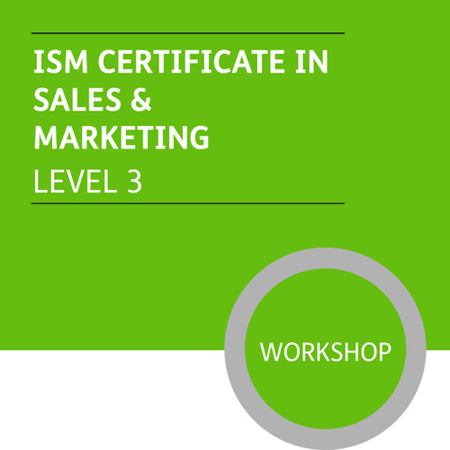 ISMM Certificate in Sales and Marketing (Level 3) - Premium/Workshops