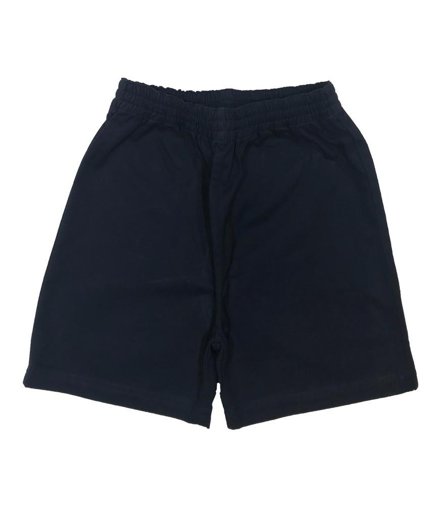 Navy cotton elasticated shorts