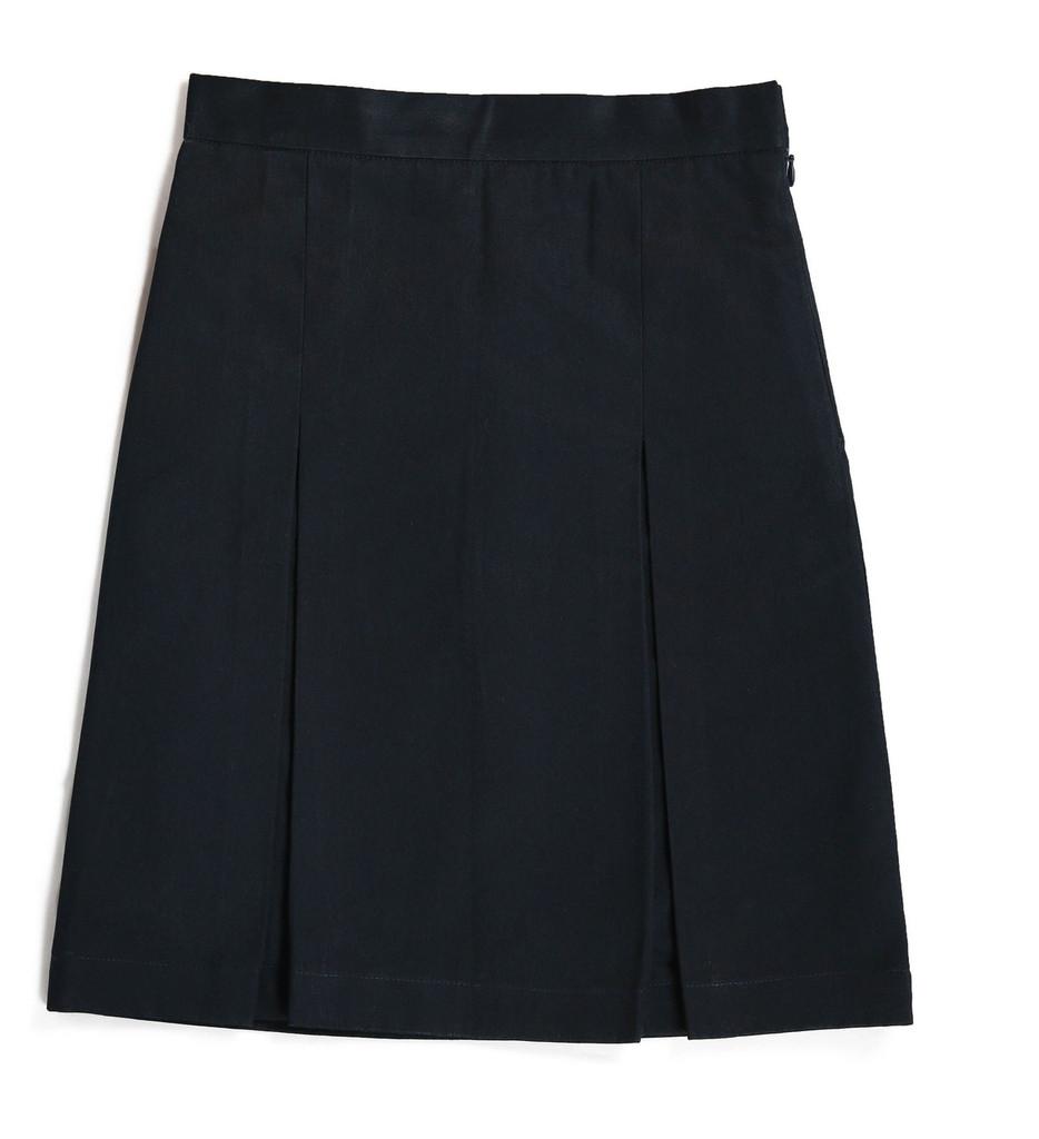 Navy skirt with box pleats