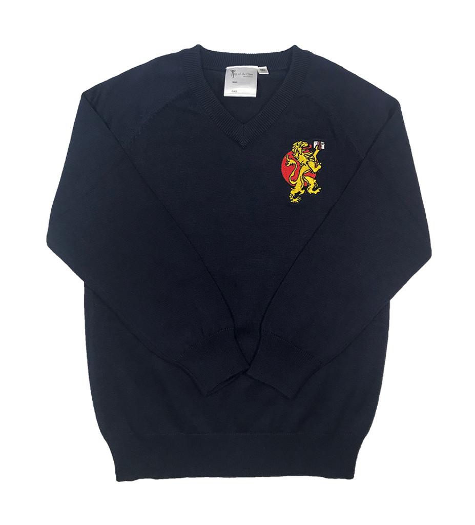 BST navy blue V-necked jumper