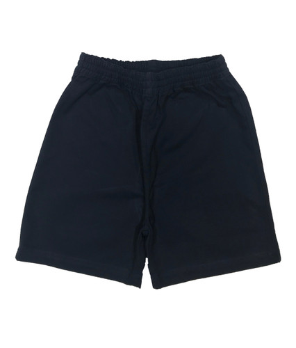 Navy cotton elasticated shorts