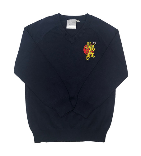 BST navy blue V-necked jumper