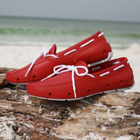 Red & White Deck Shoe