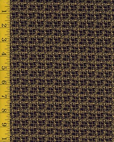 Marcus Fabrics Carolina Blues 1912-0110: Grid - Dark Blue/Yellow ...