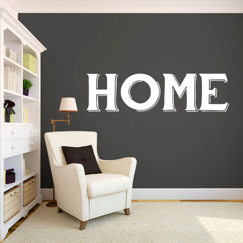 "Home Wall Decals 60"" wide x 16"" tall Sample Image"