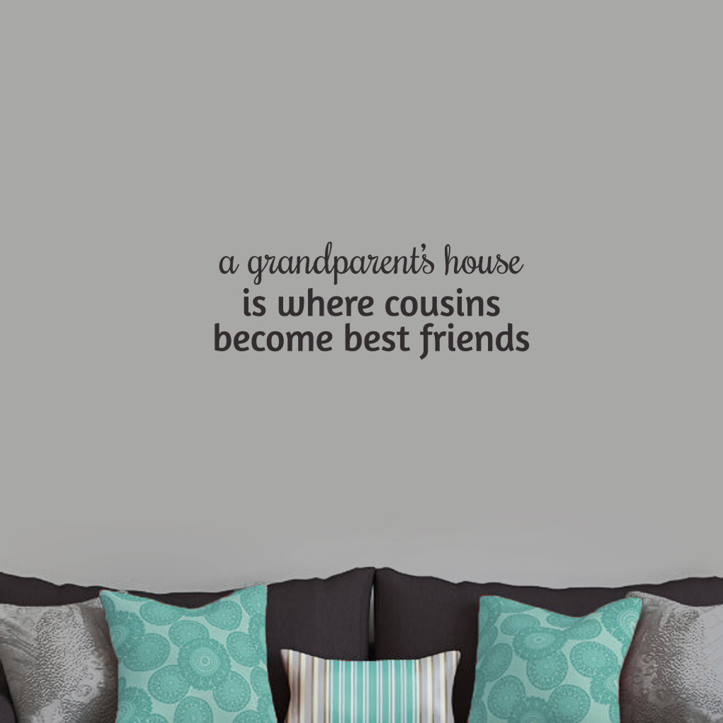 "A Grandparent's House Wall Decals and Stickers 24"" wide x 9"" tall Sample Image"