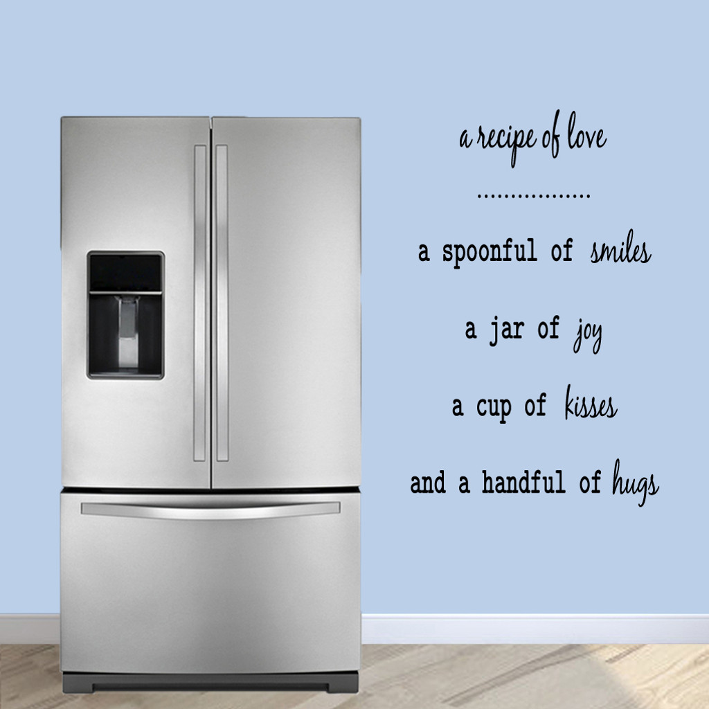 "A Recipe Of Love Wall Decals 30"" wide x 48"" tall Sample Image"