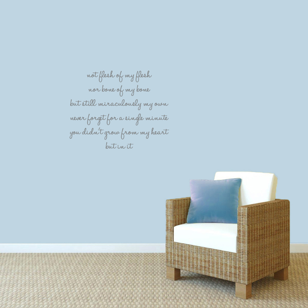 "Adoption Creed Wall Decals 28"" wide x 22"" tall Sample Image"