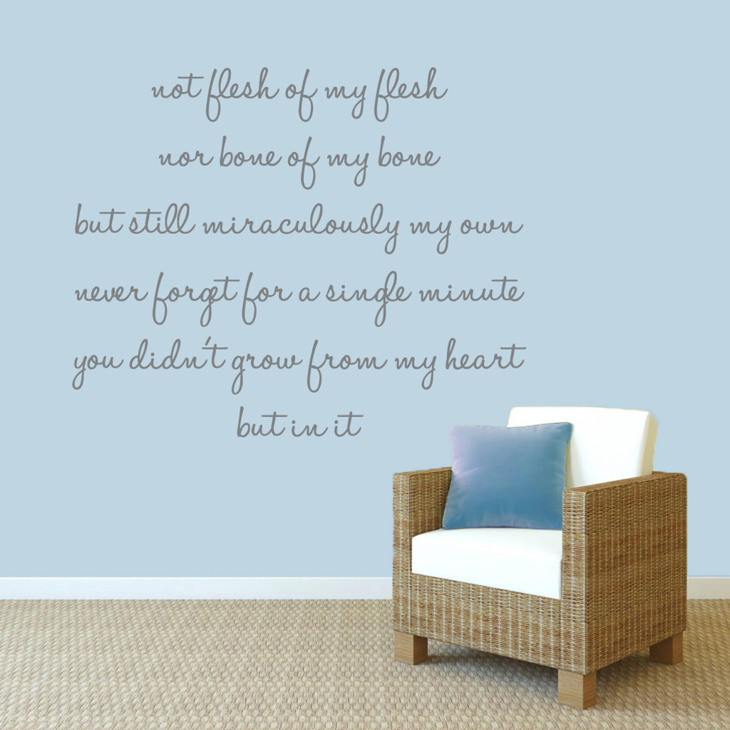 "Adoption Creed Wall Decals 54"" wide x 44"" tall Sample Image"