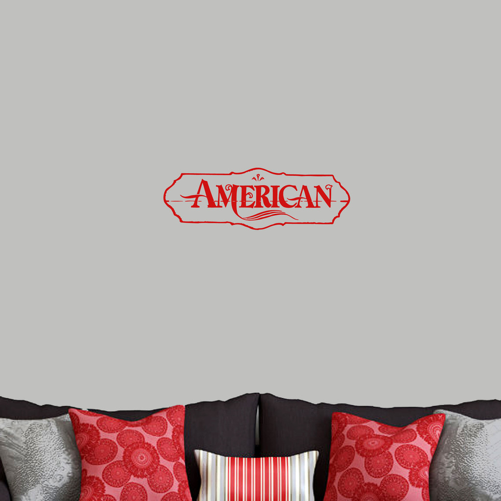 "American Wall Decals 24"" wide x 8"" tall Sample Image"