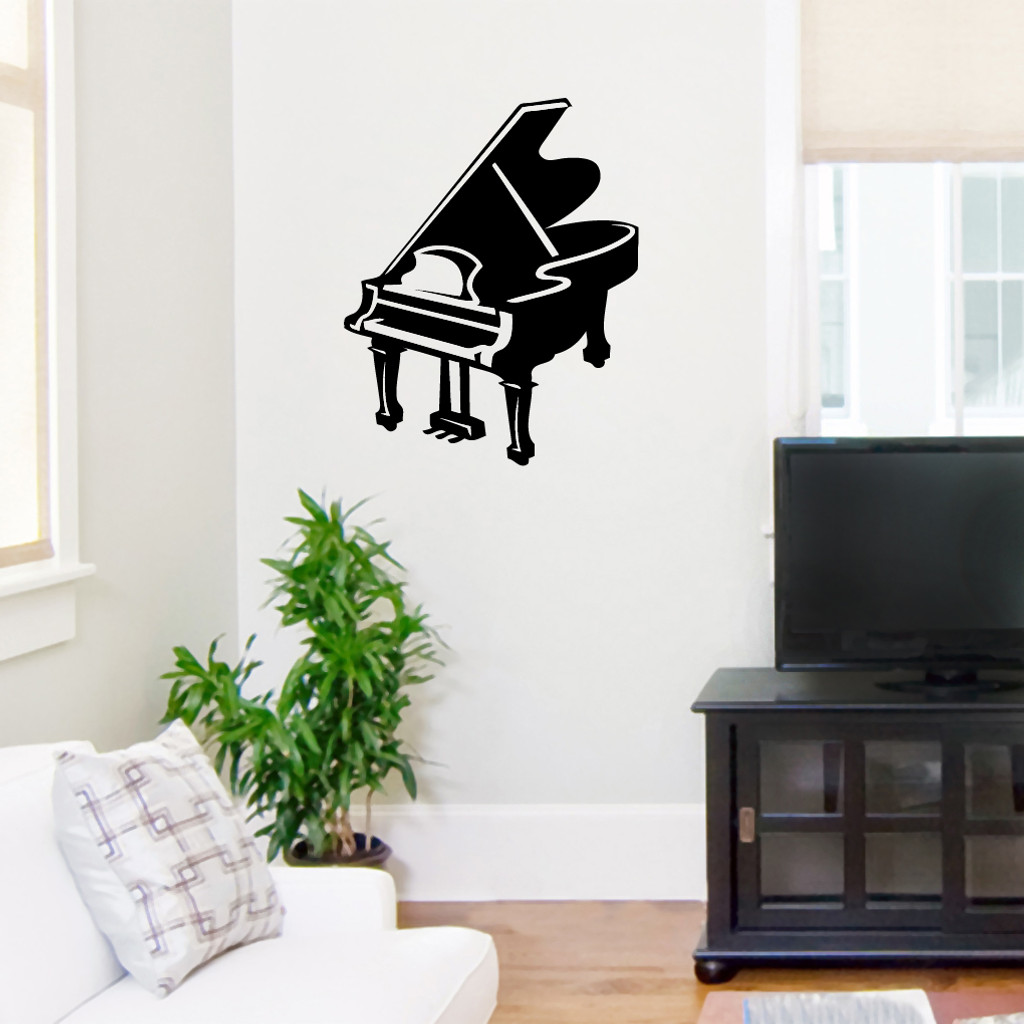 Baby Grand Piano Wall Decals |Wall Art | Wall Murals