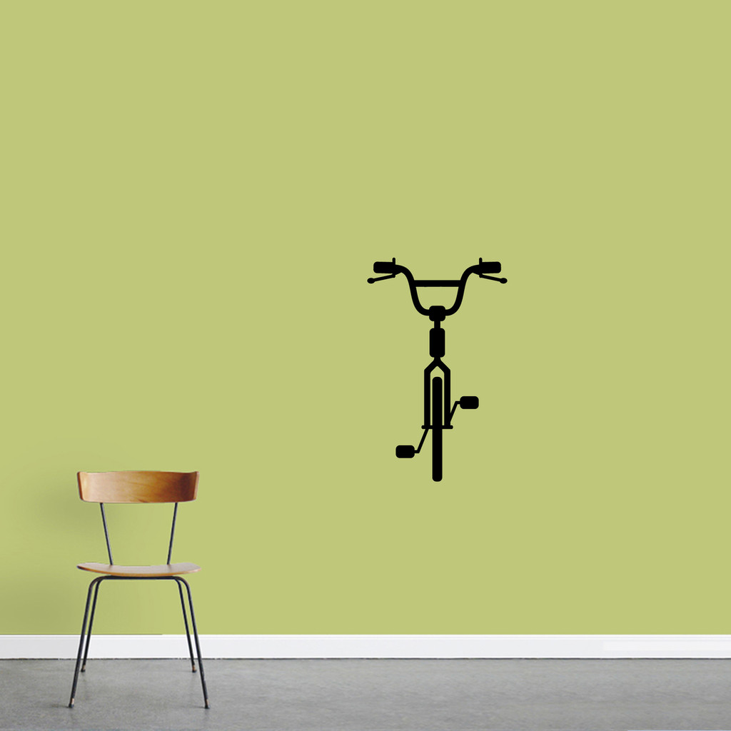 "Bike Wall Decal 15"" wide x 24"" tall Sample Image"