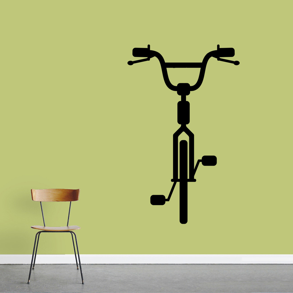 "Bike Wall Decal 30"" wide x 48"" tall Sample Image"