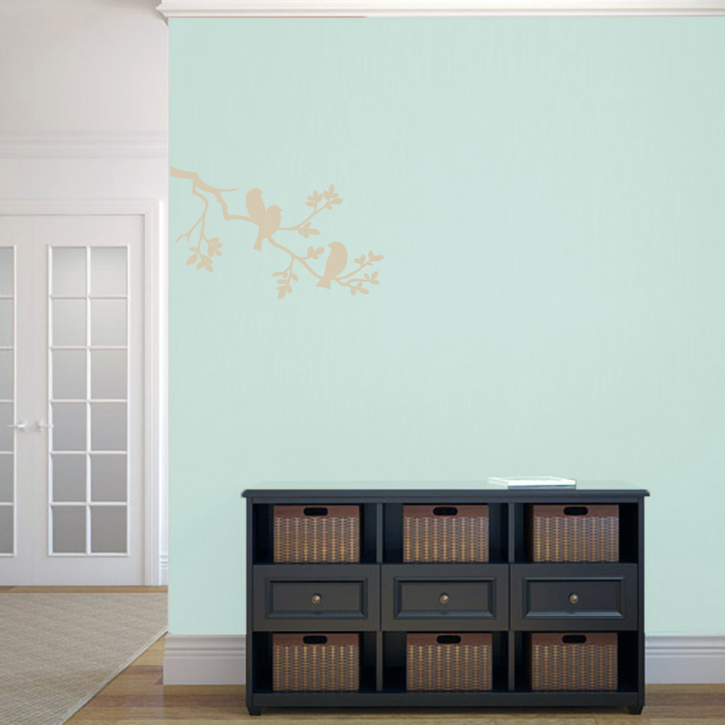 "Birds On A Branch Wall Decals 24"" wide x 15"" tall Sample Image"