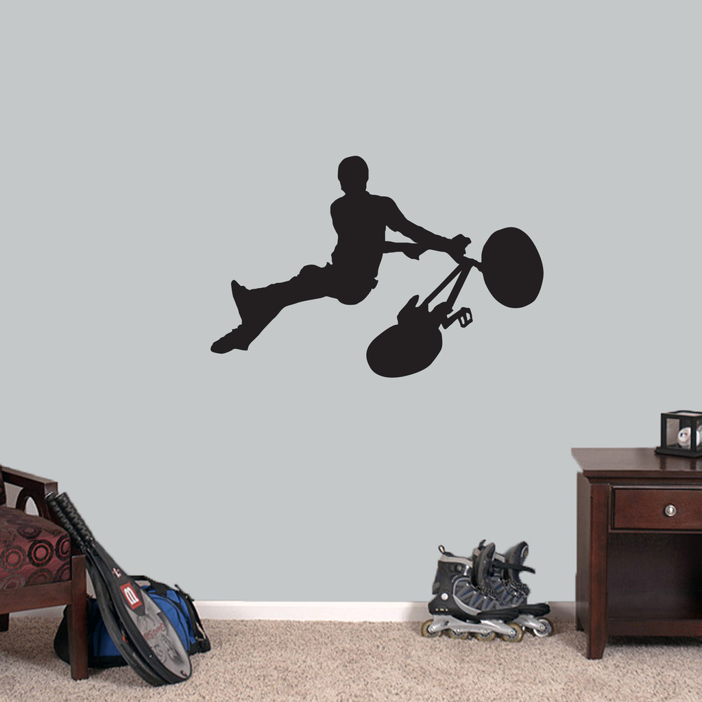 "BMX Bicycle Wall Decal 36"" wide x 24"" tall Sample Image"