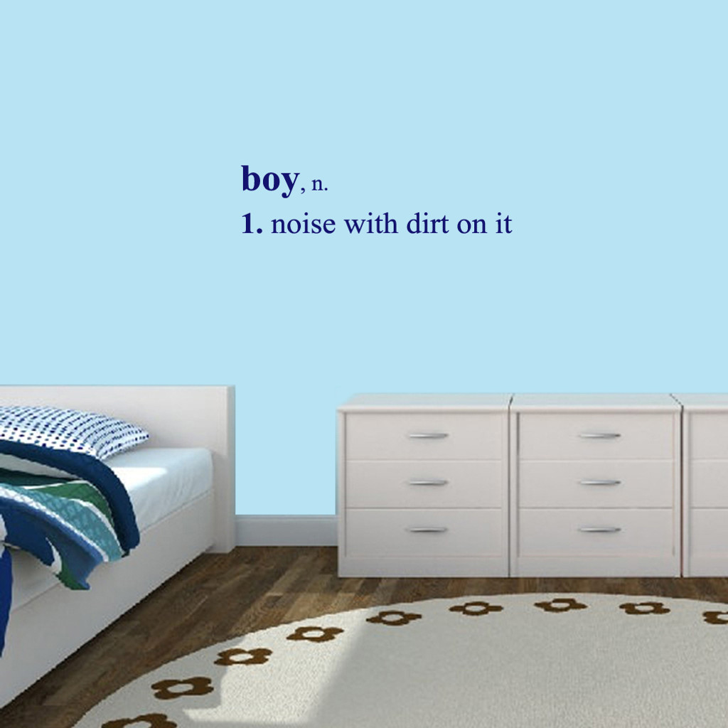 """Boy Wall Decals Wall Stickers 36"""" wide x 9"""" tall Sample Image"""