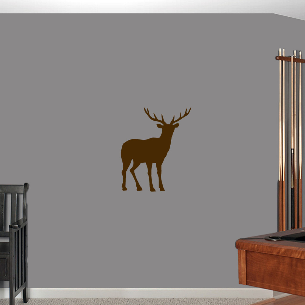 """Buck Wall Decals 20"""" wide x 24"""" tall Sample Image"""