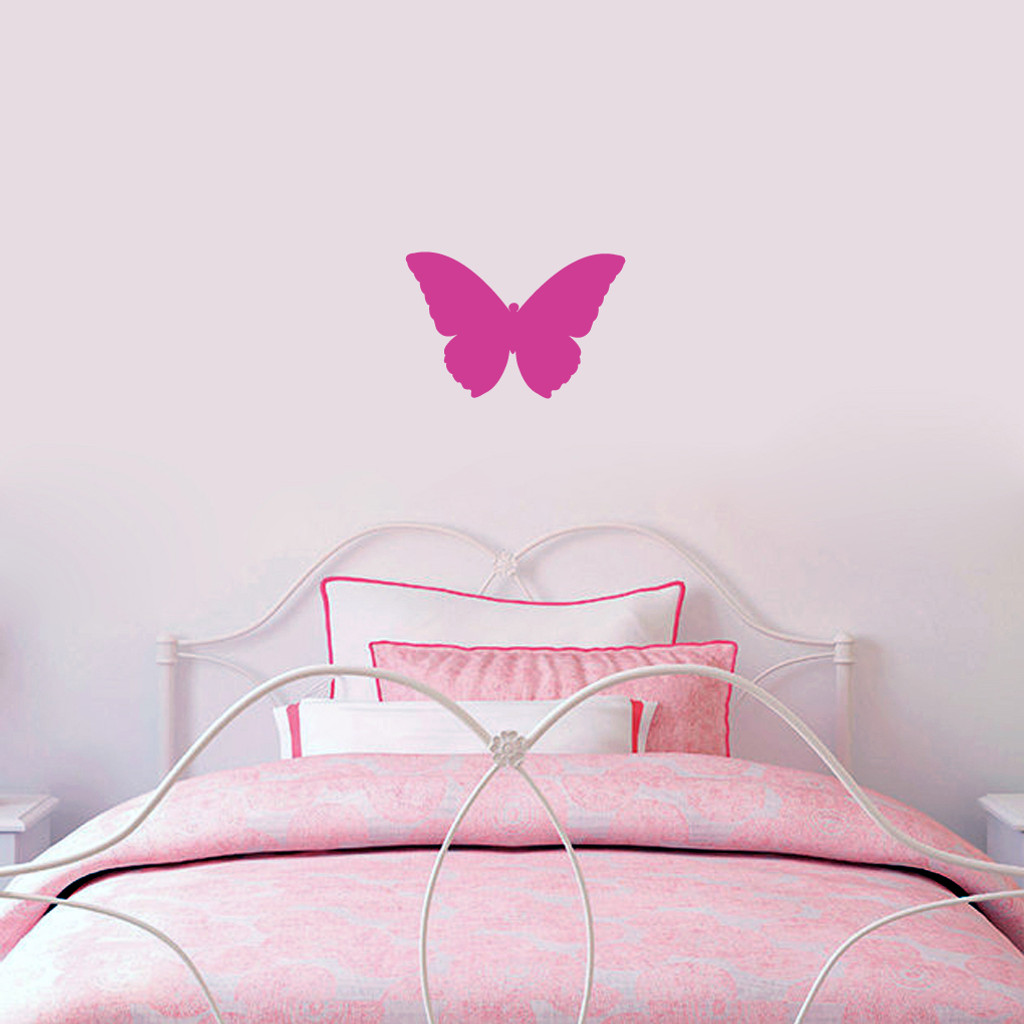 "Butterfly Silhouette Wall Decals 12"" wide x 8"" tall Sample Image"