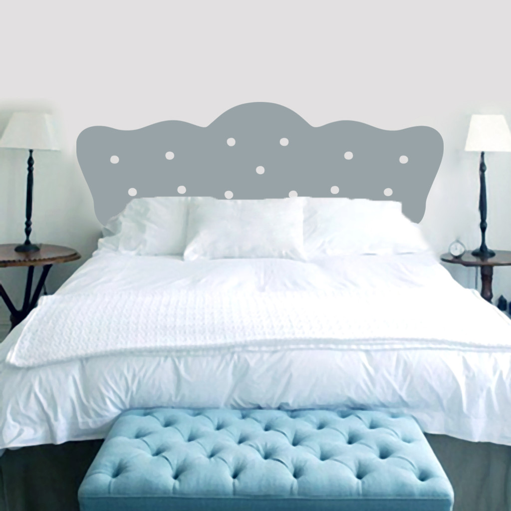 Superior Button Headboard Wall Decals And Wall Stickers