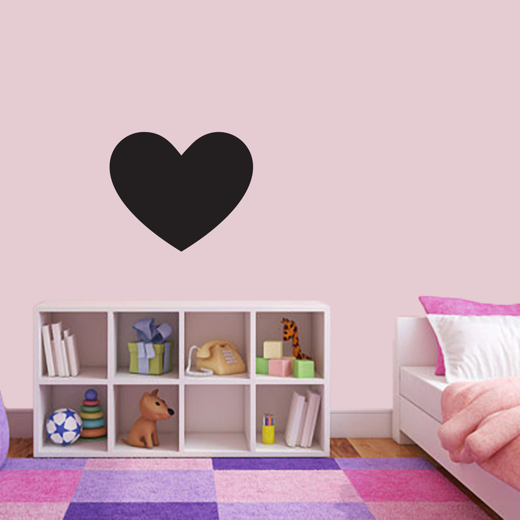 "Chalkboard Heart Wall Decals 18"" wide x 15"" tall Sample Image"