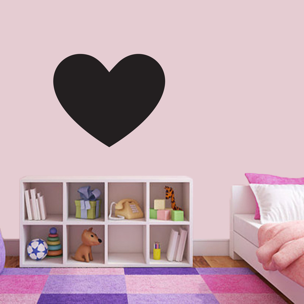 "Chalkboard Heart Wall Decals 24"" wide x 20"" tall Sample Image"