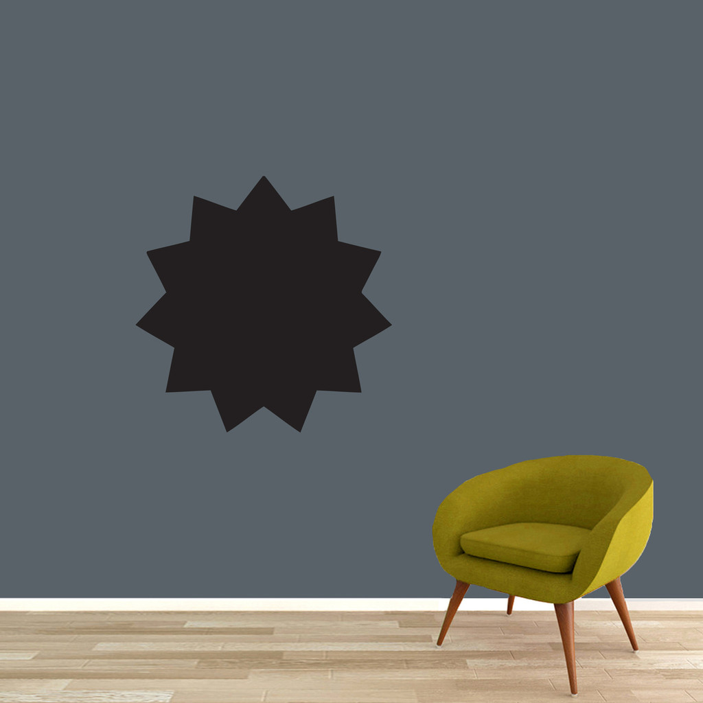 Chalkboard Starburst Wall Decals Wall Stickers