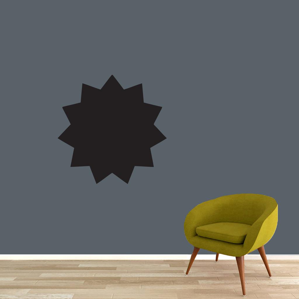 Chalkboard Starburst Wall Decal