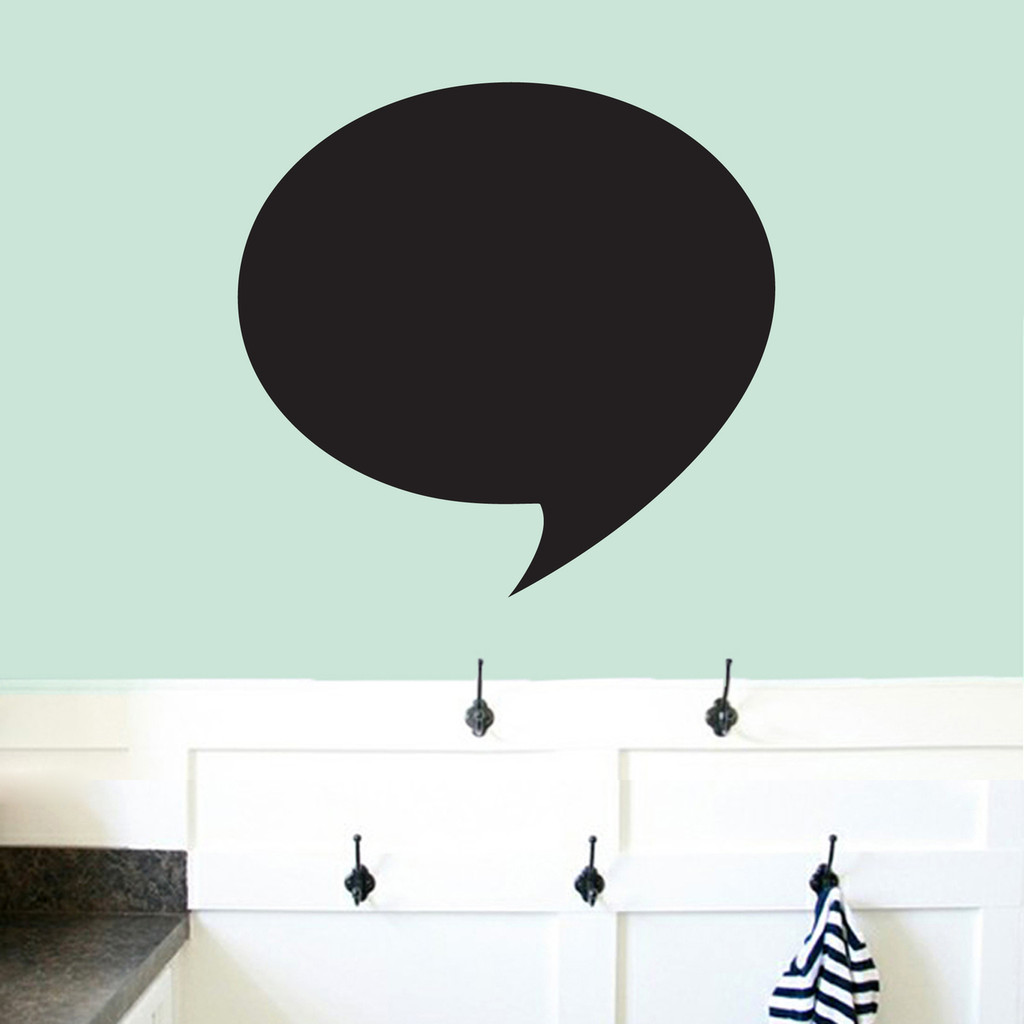 "Chalkboard Word Bubble Wall Decals 24"" wide x 23"" tall Sample Image"