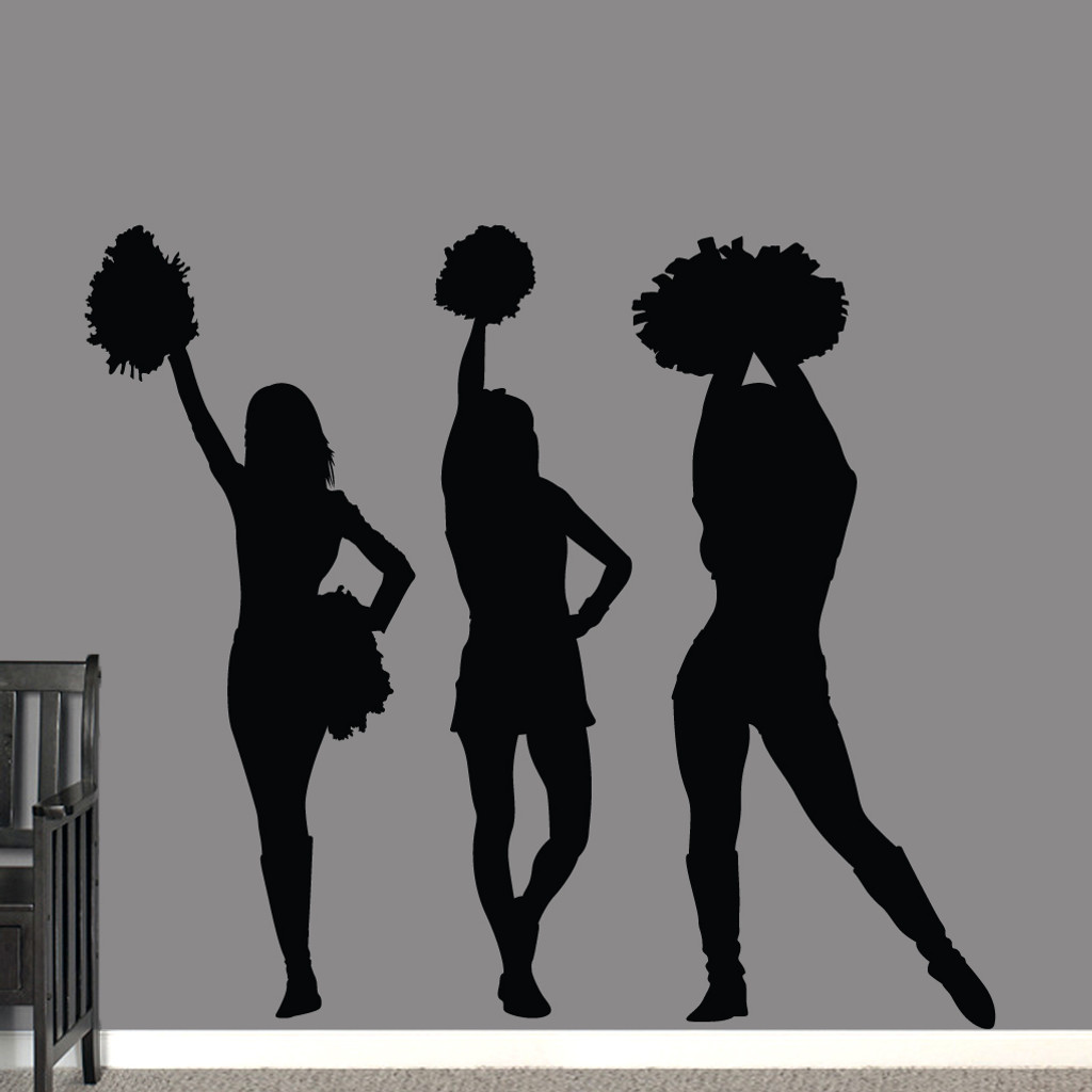 Cheerleaders Wall Decals Large Sample Image
