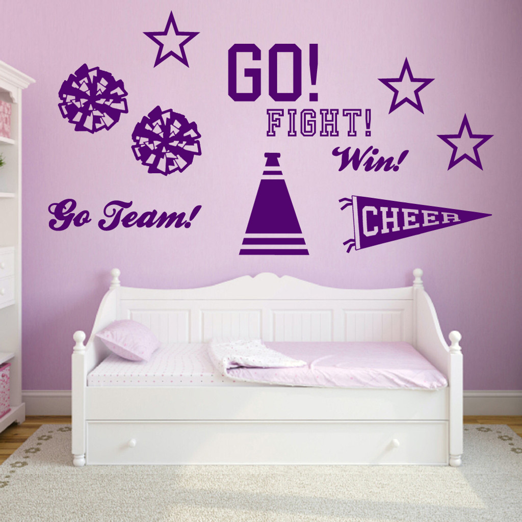 Cheerleading Set Wall Decals Large Sample Image
