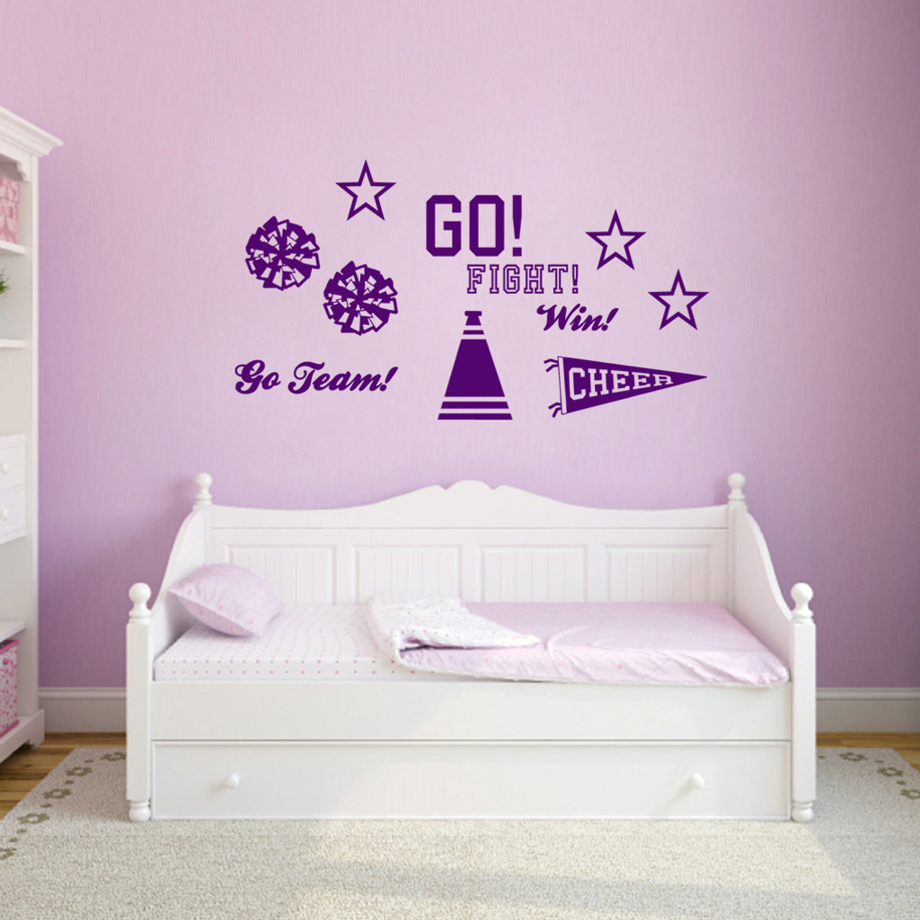 Cheerleading Set Wall Decals Small Sample Image